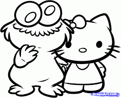 Cute Baby Cookie Monster Coloring Pages Colorinenet 2146