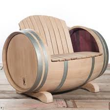 make garden or outdoor furniture from wine barrels patio set