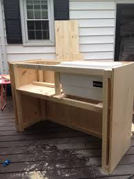 portable patio bar. DIY Steps For Outdoor Bar With Built In Cooler Portable Patio