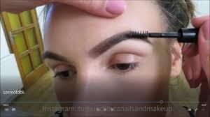 perfect eyebrows step by step makeup tutorial video tökéletes szemöldök