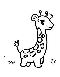 Giraffe Coloring Page Sweet Looking Cute Baby Giraffe Coloring Pages