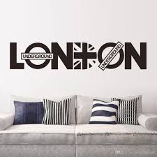 London Bedroom Wallpaper English Letter London Wall Art Decal Sticker London Wall Quote