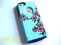 Phone cover otterbox floral flowers pink green iphone case