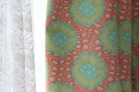 Amy Butler Home Decor Fabric Lined Curtains Sea Green And Sapphire