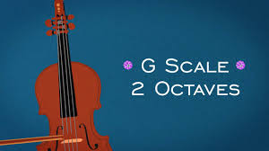 Piano Scale Finger Chart Two Octave G Major Scale Two Octaves For Violin