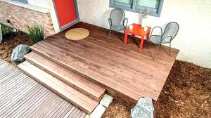 floating deck over concrete patio building a installing wood