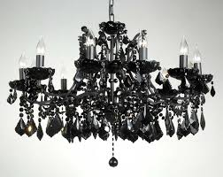 charming small black crystal chandelier small black crystal