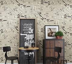 Beibehang Modern Decorative 3D Wallpaper Retro English Old Newspaper  Wallpaper Living Room Bedroom Background Wallpaper roll