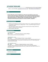 Sample Resume Objectives For Students Best Solutions Sample Resume Objectives For College Students