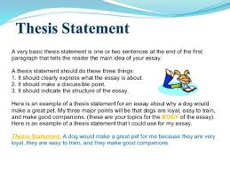 essay writing 10 a very basic thesis statement