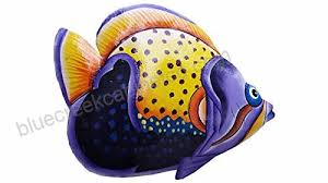 hand chiseled and painted tropical metal art wall decor fish b071cz7tdx