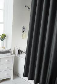 black shower curtains. Waterline Black Shower Curtain (180cm X 180cm) Including 12 Co-Ordinating Rings Curtains