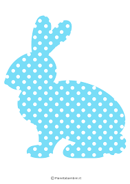 Sagome di coniglietti pasquali da stampare per decorazioni