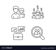 networking for a job business networking portfolio and find a job vector image