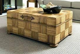 wicker storage ottoman coffee table outdoor indoor trunk brown storag