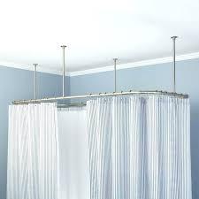 square curtain rod square ceiling mount shower curtain rod bathrooms in dream 9 croydex luxury square