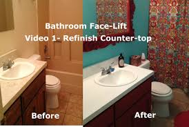Bathroom Face Lift Resurfacing Countertop and Sink Video 1