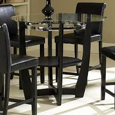 48 manhattan round glass counter height dining table set home regarding round glass counter height dining set