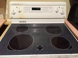 kitchenaid glass top stove