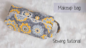 make up bag sewing tutorial with video