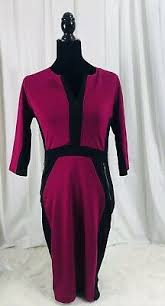 Homeyee Womens Voguish Colorblock Wear To Work Pencil Dress