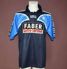 Vfl bochum 2005 2006 dws trikot bundesliga nike heim blau shirt jersey large l. Vfl Bochum Away Football Shirt 2001 2002 Sponsored By Faber Lotto