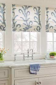 kitchen window treatments qsuare triple stainless steel undermounted sinks rustic solid wood table white tieback curtains