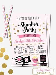 How To Make A Sleepover Invitation Slumber Party Invitation Sleepover Invitation Pajama Party