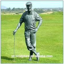 golf statues outdoor home decorating boy putting garden bronze concrete golfer statue miniature for ornaments