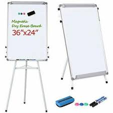 Details About Tripod Magnetic Whiteboard Dry Erase Board Flipchart Easel With Stand 36 X 24