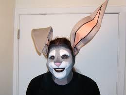 rabbit face prosthetic by sjgarg