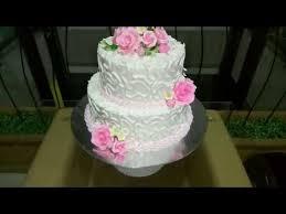 Lapis Surabaya 2 Tumpuk Wedding Cake Pink Rose Dan Cara Membuatnya