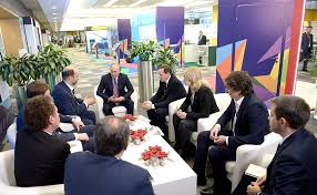 meeting with leaders of round table discussions at the first russian internet economy forum