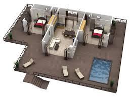 best modern bungalow house plans for modern 1 bedroom house plans 3d