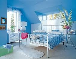 bedroom design for couples. Bedroom, Blue Wall Paint Metal Bedstead Pillows Bedlinen Desklamp Sofa Chairs Rug Carpet On Ceramic Bedroom Design For Couples