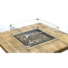 large picture of designs square glass wind guard fire pit canada