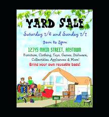 Garage Sale Flyers Free Templates Neighborhood Garage Sale Flyer Templates Yard Sale Flyer Template