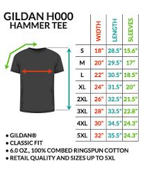 Gildan Hammer Size Chart G I Chip Ourmerch Store