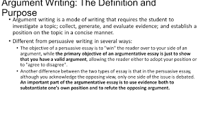 argument writing the definition and purpose argument writing is a  argument writing the definition and purpose argument writing is a mode of writing that requires