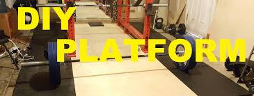 diy deadlift platform garage gym