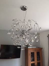large round glass ball chandelier light