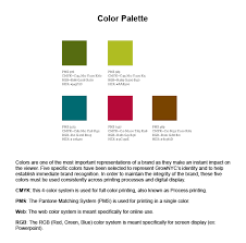 graphic design style guides part ii examples kivi s  color palette example