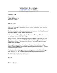 Finance Internship Cover Letter Resume Badak