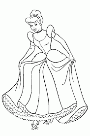 Kleurplaat Assepoester Efteling
