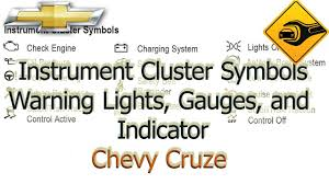 2014 Chevy Cruze Warning Lights Chevrolet Cruze Instrument Cluster Symbols Warning Lights