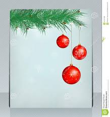 Free Holiday Greeting Card Templates Holiday Greeting Card With Christmas Balls Can Be Stock Vector