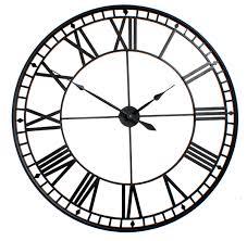 large roman big vintage black skeleton wall clock 120cm diameter