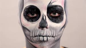 skeleton makeup with bald cap tutorial with make up forever