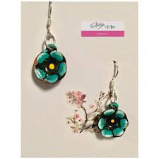 earrings made with clay and mexican silver by belen mosqueda styleintoronto turquose