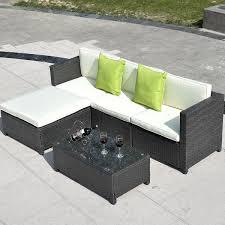 Gym Equipment Outdoor Furniture Set PE Wicker Rattan Sectional
